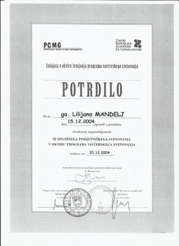Mandelj_potrdilo o strokovni usposobljenosti PCMG_generalist