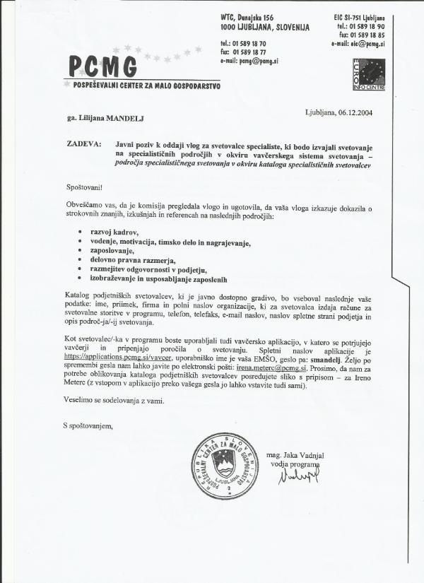 Mandelj_potrdilo o strokovni usposobljenosti PCMG_specialist