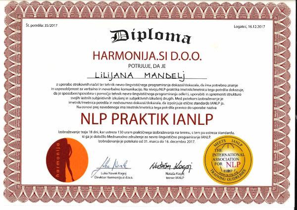 NLP praktik Lilijana Mandelj